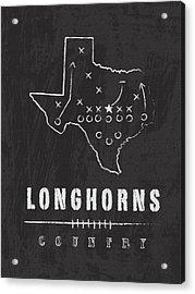 Texas Longhorns Country Acrylic Print