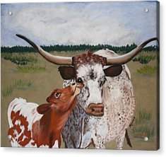 Texas Love Acrylic Print by Michele Turney