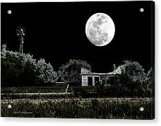 Acrylic Print featuring the photograph Texas Moon by Travis Burgess