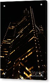 Texas Night Acrylic Print by Linda Shafer
