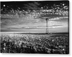 Texas Plains Windmill Acrylic Print