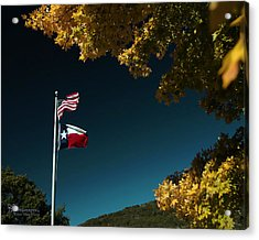 Acrylic Print featuring the pyrography Texas Pride by Karen Musick