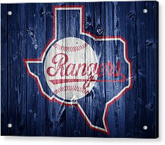 Texas Rangers Barn Door Acrylic Print