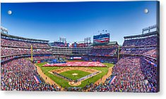 Texas Rangers Opening Day 2016 Acrylic Print by Stephen Stookey