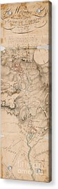 Texas Revolution Santa Anna 1835 Map For The Battle Of San Jacinto  Acrylic Print