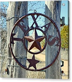 Texas Star Rustic Iron Sign Acrylic Print