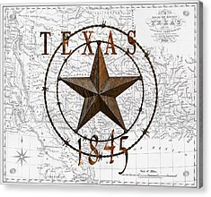 Texas Statehood 1845 Acrylic Print