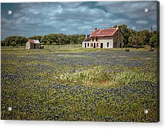 Acrylic Print featuring the photograph Texas Stone House by Linda Unger