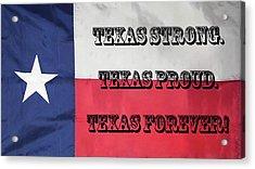 Texas Strong Acrylic Print
