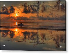 Texas Sunset Gulf Of Mexico Acrylic Print by Kevin Hill