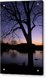 Texas Sunset On The Lake Acrylic Print by Kathy Yates