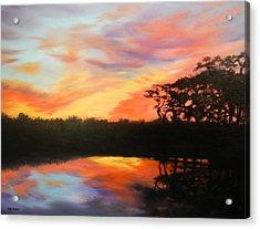 Texas Sunset Silhouette Acrylic Print