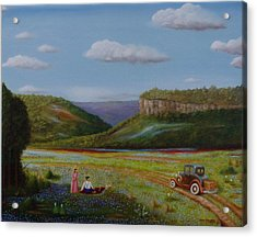 Acrylic Print featuring the painting Texas Travelers Giclee by Gene Gregory