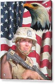 Texas Warrior Acrylic Print