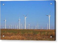 Texas Wind Farm Acrylic Print by Donna Kennedy