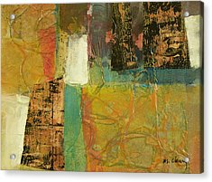 Textural Notions Acrylic Print by Melody Cleary