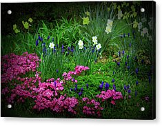 Acrylic Print featuring the photograph Texture Drama Garden Escape by Aimee L Maher Photography and Art Visit ALMGallerydotcom