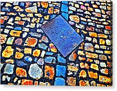 Texture. Next To Charles Bridge. Prague. Czech Republic. Acrylic Print by Andy Za
