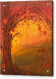 Textured Fall - Tree Series Acrylic Print