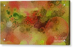 Textured Flowers And Bubbles Acrylic Print by Geraldine DeBoer