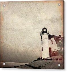 Textured Point Betsie Lighthouse Acrylic Print