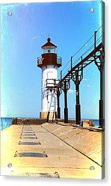 Textured St Joseph Lighthouse Michigan Acrylic Print