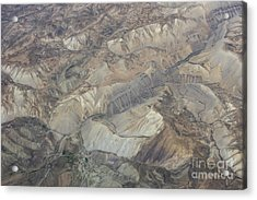 Textured Valleys Acrylic Print by Tim Grams