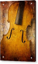 Textured Violin Acrylic Print