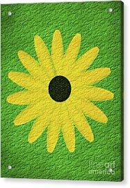 Acrylic Print featuring the digital art Textured Yellow Daisy by Smilin Eyes  Treasures