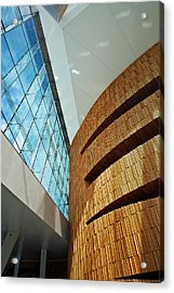 Textures And Light Inside Oslo Opera House Acrylic Print