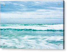Textures In The Waves Acrylic Print by Shelby  Young