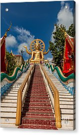 Thai Big Buddha Acrylic Print by Adrian Evans