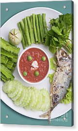 Acrylic Print featuring the photograph Thai Chili Paste by Atiketta Sangasaeng