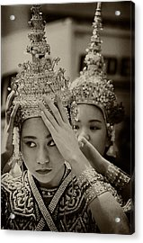 Thai Dancers Preparing Acrylic Print