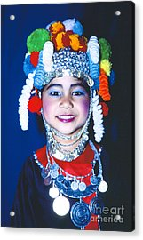 Acrylic Print featuring the photograph Thai Girl Traditionally Dressed by Heiko Koehrer-Wagner