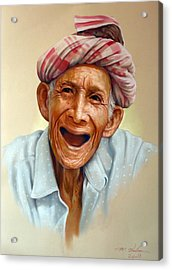 Thai Old Man2 Acrylic Print by Chonkhet Phanwichien