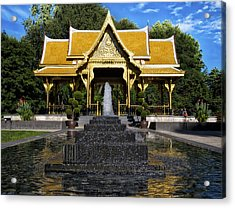 Thai Pavilion - Madison - Wisconsin Acrylic Print by Steven Ralser