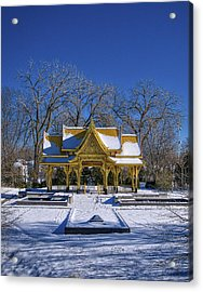 Thai Pavillion - Madison - Wisconsin V Acrylic Print by Steven Ralser