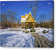 Thai Pavillon - Madison - Wisconsin Iv Acrylic Print by Steven Ralser