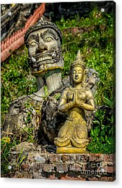 Thai Statues Acrylic Print by Adrian Evans