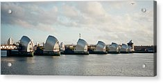 Thames Barrier Acrylic Print by Dorothy Berry-Lound