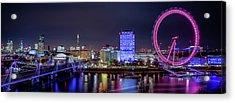 Thames Panorama Acrylic Print