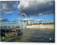 Thames River Acrylic Print