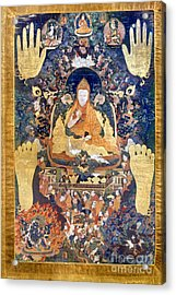 Thangka: Dalai Lama Acrylic Print by Granger