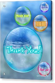 Thank You Bubbles Acrylic Print
