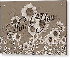 Thank You Card Daisies Acrylic Print