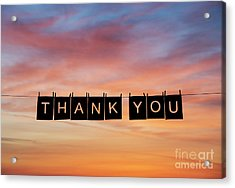 Thank You Acrylic Print by Tim Gainey