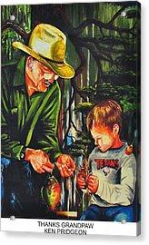 Thanks Grandpaw Acrylic Print