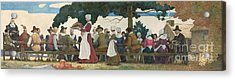 Thanksgiving Banquet Acrylic Print by Newell Convers Wyeth