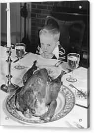 Thanksgiving Dinner Acrylic Print by American School